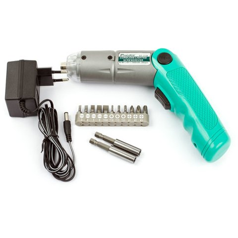 Бездротова електрична викрутка Pro'sKit PT-1136F + 11 змінних біт - Перегляд 2