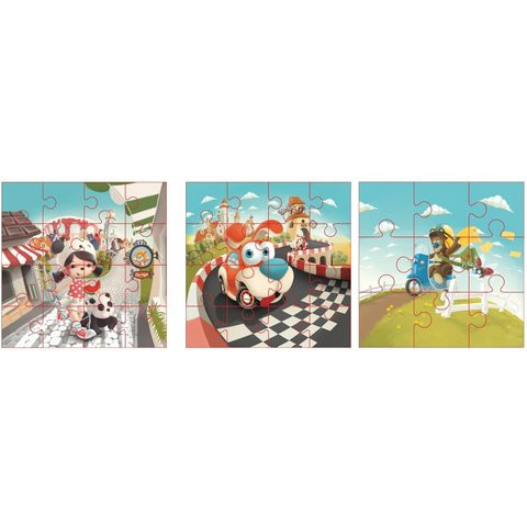 Puzzlika 3 in 1 Jigsaw Puzzle Happy Stories - /*Photo|product*/