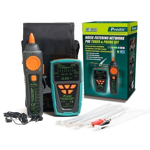 Noise-Filtering Network PoE Toner & Probe Pro'sKit MT-7029 - Preview 2